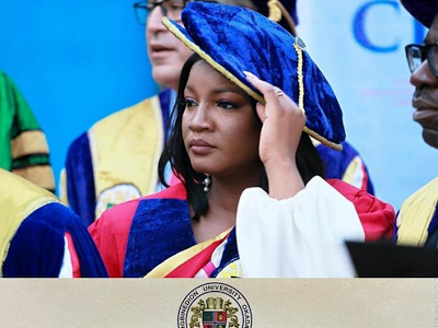Omotola Jalade-Ekeinde Honored With Doctorate Degree At Igbinedion University