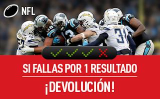 sportium NFL: Combinada 'con seguro' 5-9 octubre