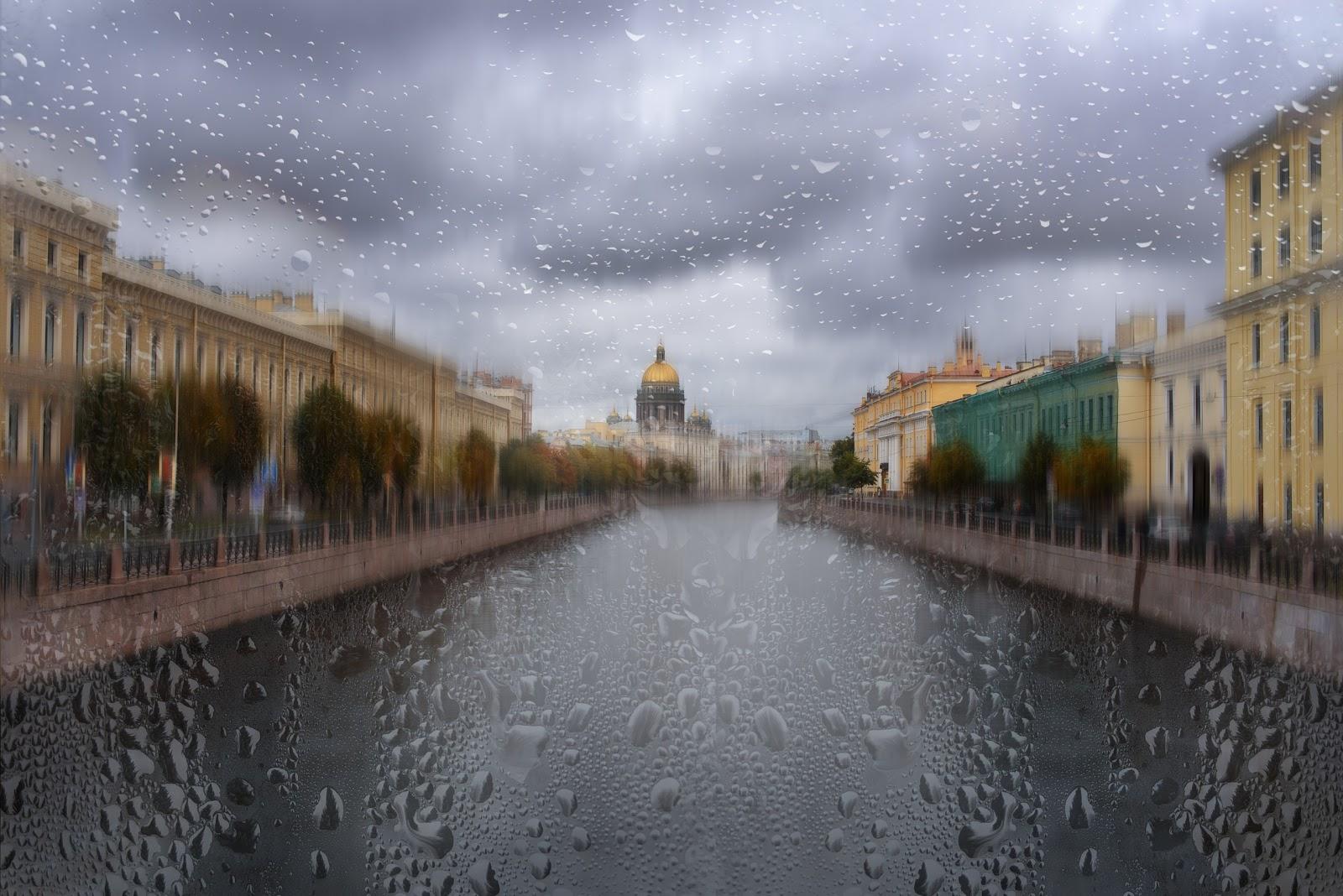Санкт-Петербург. Дождь