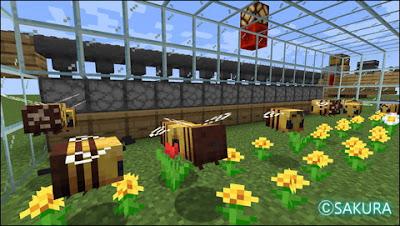 Minecraft ミツバチ自動採蜜機 大規模養蜂場