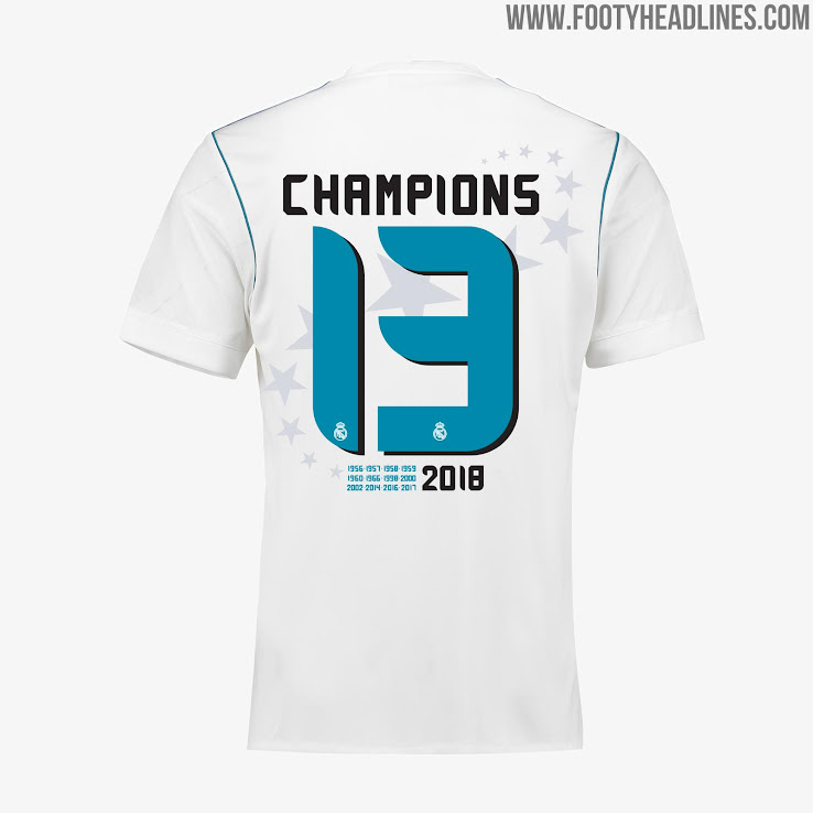 super popular 14ce8 b79a7 Real Madrid 2018 Champions League Winners Tee & Collection ...