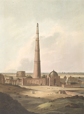 Qutub Minar by Thomas Daniell