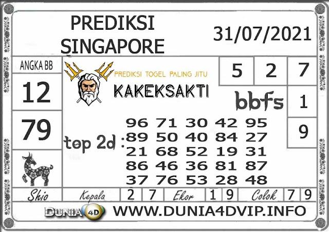 Prediksi Togel SINGAPORE DUNIA4D 31 JULI 2021
