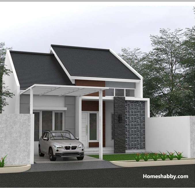 Desain Dan Denah Rumah Minimalis Modern Walaupun Kecil Terdapat 3 Kamar Tidur Dan Gudang Homeshabby Com Design Home Plans Home Decorating And Interior Design