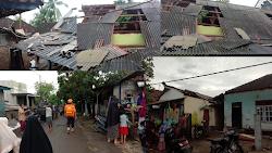 Angin Kencang Disertai Hujan Terjang Puluhan Rumah di Kecamatan Suela