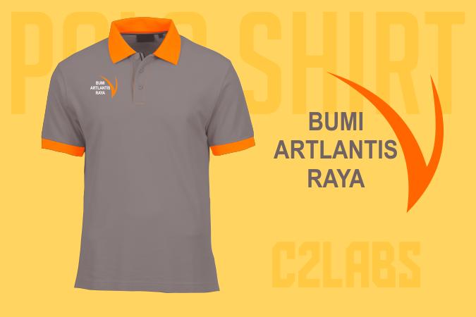 Polo Shirts Artlantis Company Wangki Lacoste Bordir Komputer Custom