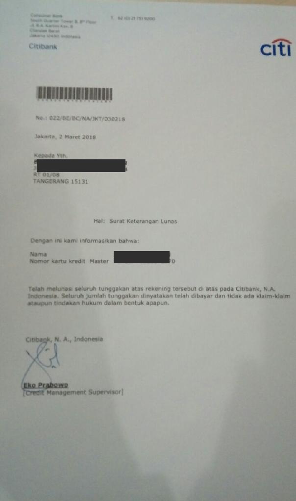 Kumpulan  Surat2  Lunas Bank