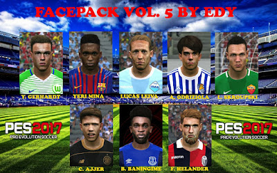 PES 2017 Facepack vol 5 by Eddie Facemaker