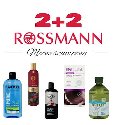 Rossmann 2+2 - szampony mocne, SLS, ALS, SLES itp.