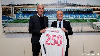 Zidane alcanza una nueva cifra sentado en el banquillo madridista