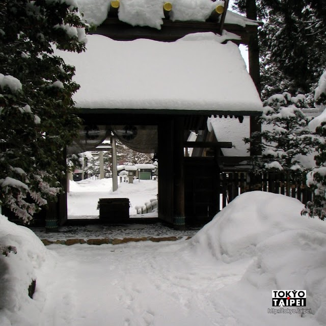 【飛驒總社】在冰天雪地裡 造訪高山有千年歷史的飛驒國總社