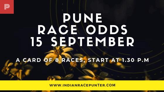Pune Race Odds 15 September