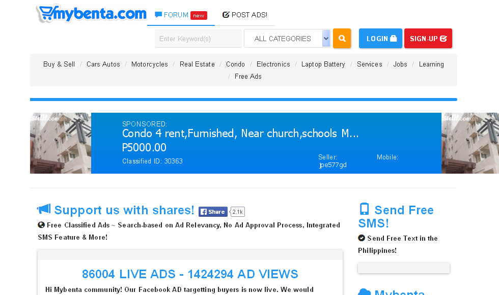 MyBenta Review - Free Classified Ad Website in Philippines