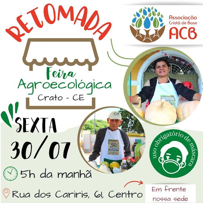 ACB retoma atividades presenciais da Feirinha orgânica nesta sexta-feira (30)