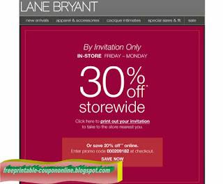 Free Printable Lane Bryant Coupons