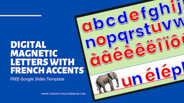 Digital Magnetic Letters with French Accents - Google Slides Template