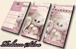 Cute Cat Theme For YOWhatsApp & Fouad WhatsApp By Robsson