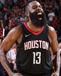 James Harden, 1st player to record back-to-back 50+ PTS games with 10 3PTS in NBA history.