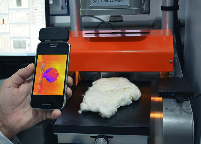 sensor no smartphone detecta açúcar no algodão