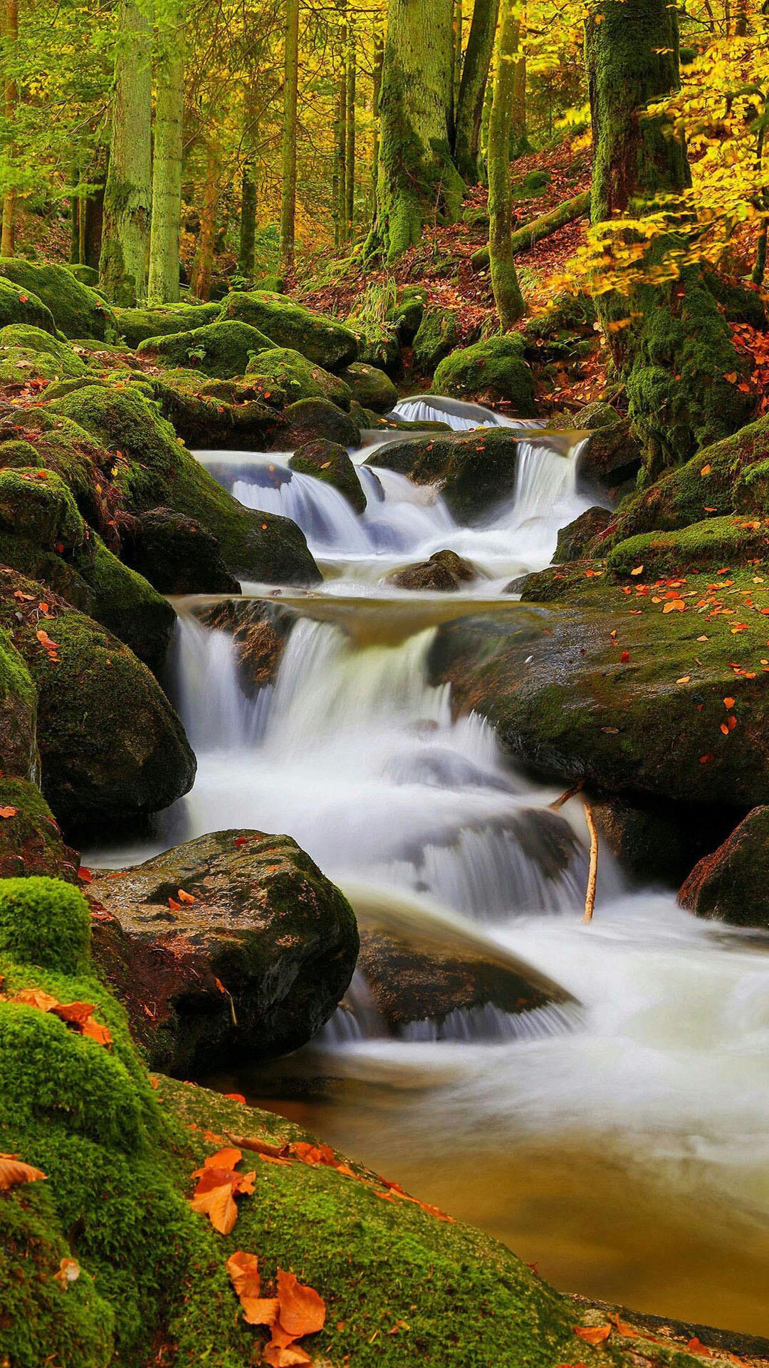 Waterfall nature mobile wallpaper