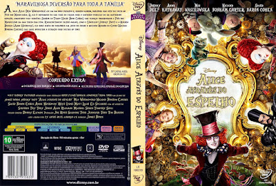 Filme Alice - Através do Espelho (Alice Through The Looking Glass) DVD Capa