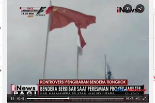 Usut Pihak yang Beri Izin Pengibaran Bendera China !! - Commando