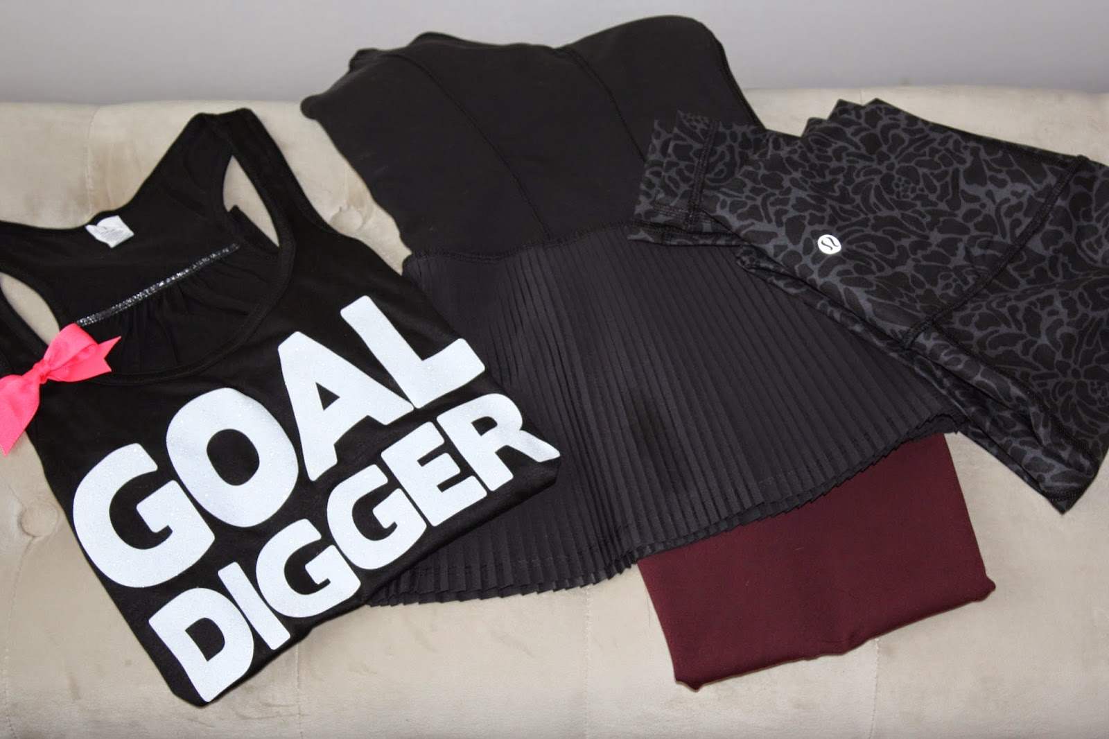 Goal Digger Workout Tank and Lululemon Tanks and Leggings