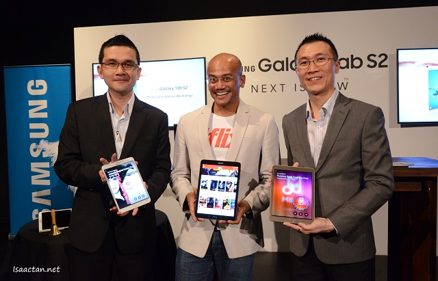 Luke Au, Head of Product Marketing, Mobile  Division, Samsung Malaysia Electronics, with Julian Thean, Product Manager for Galaxy Tab S2, Samsung Malaysia Electronics, at the Samsung Galaxy Tab S2 Media Preview Session, and the man behind iflix