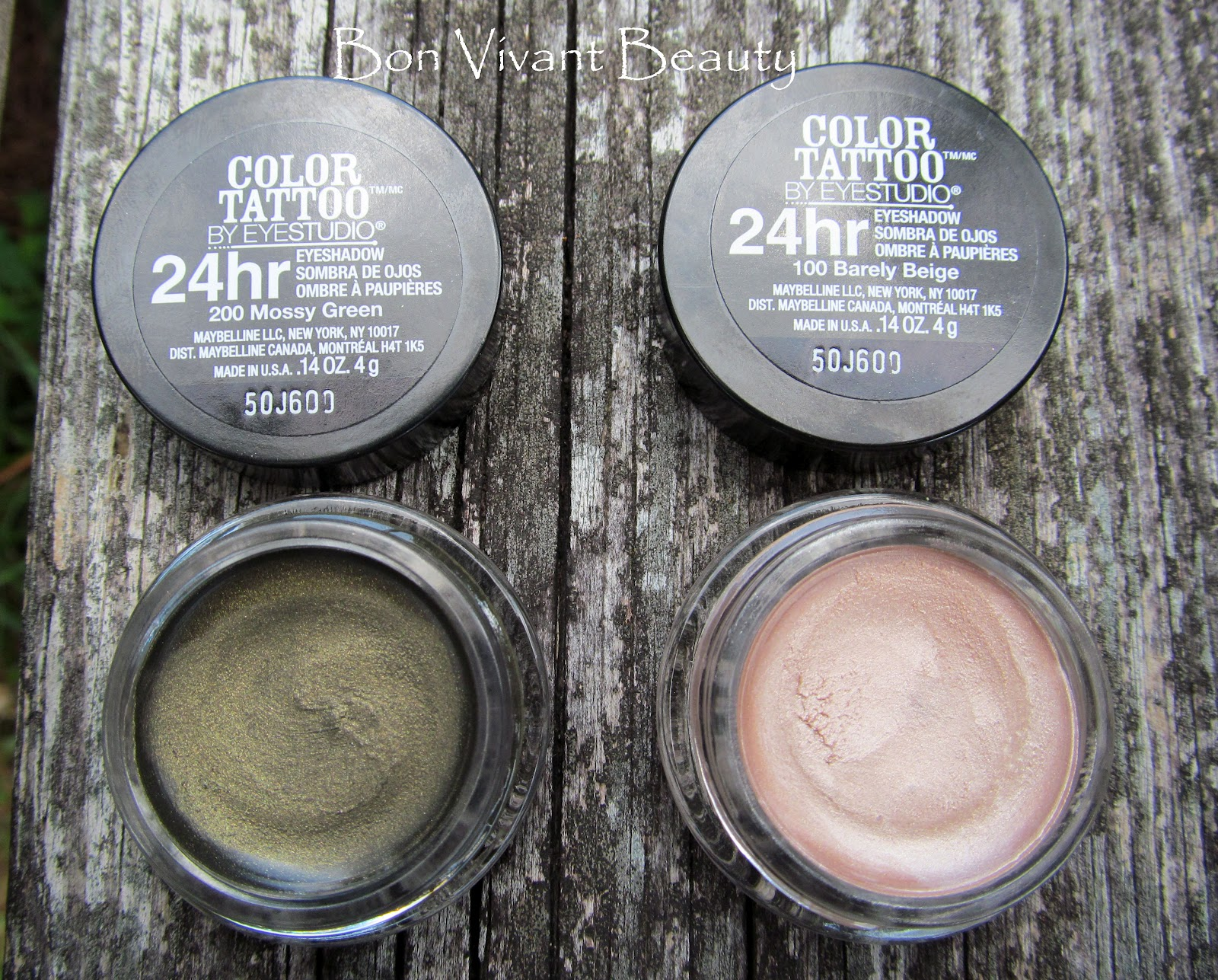 Maybelline Le Color Tattoo Eyeshadows In Barely Beige And Mossy Green