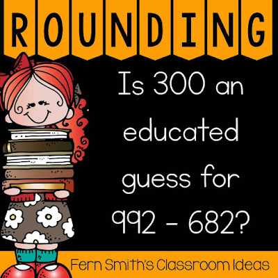 Click here to see my entire post on teaching Rounding to Estimate Differences, complete with tips, tricks, lessons and resources.