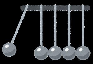ニュートンのゆりかごのイラスト1