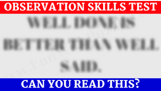 Observation skills test to read the blurred text