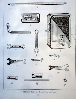 1937 parts book show tool box contents.