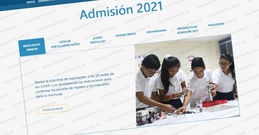 COAR ADMISIÓN 2021: Minedu publicó el Cronograma del Proceso de Admisión a los Colegios de Alto Rendimiento - www.minedu.gob.pe