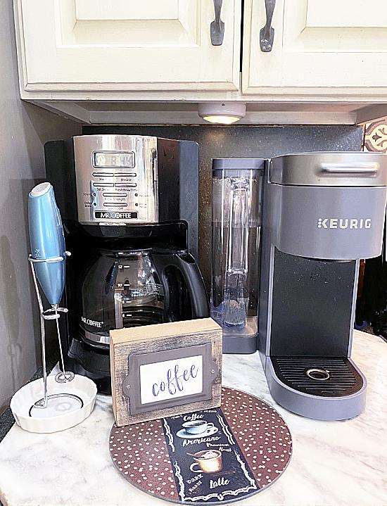coffee bar in kitchen