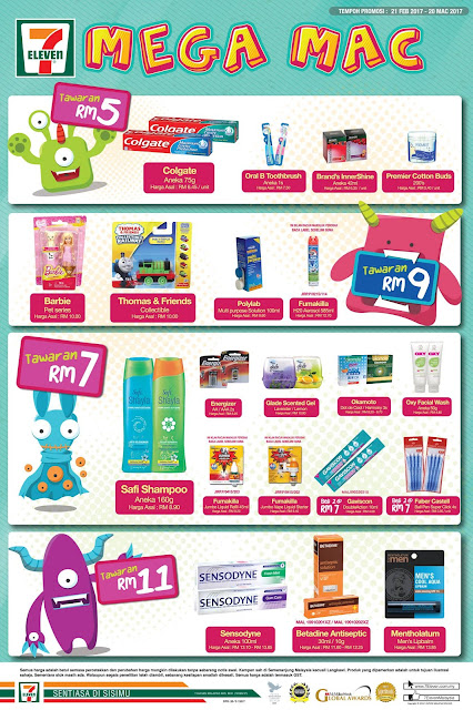 7-Eleven Malaysia Buy 2 Items Discount Offer Promo