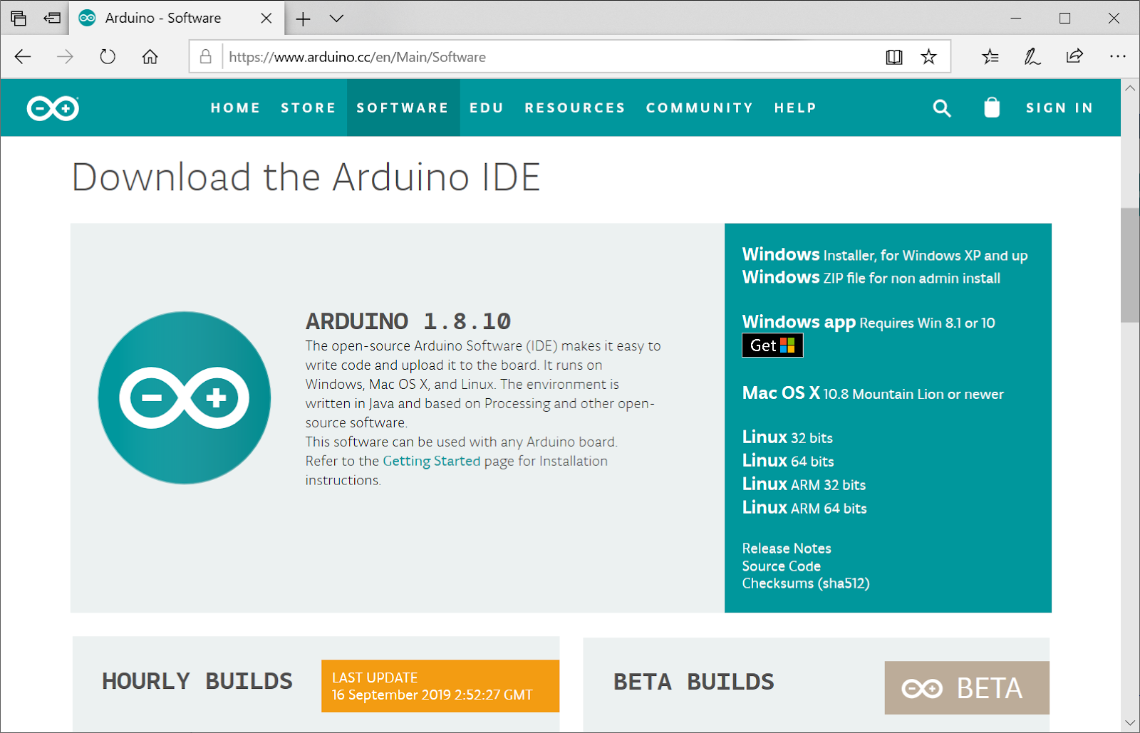 The Arduino website