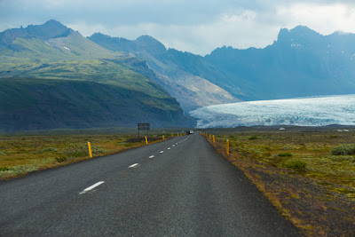 View from Ring Road leading to Vatnajökull National Park and Skaftafell glacier