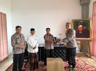 Melalui Dirbinmas Polda Metro Jaya Silahturahmi kepada KH. Mahfudz Asirun KH. Hasyim Asy'ari Jakarta