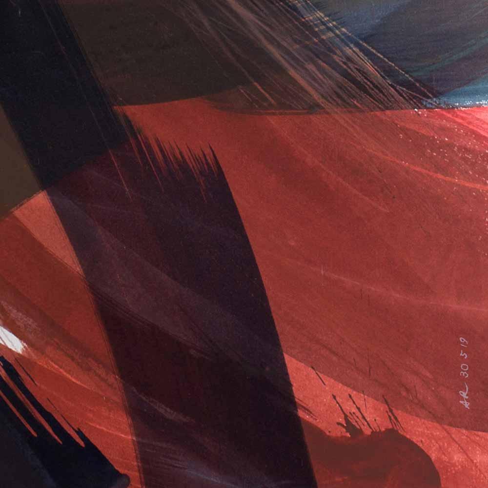 Aquarelle détail 12, 110 x 144 cm, mai 19 © Annik Reymond