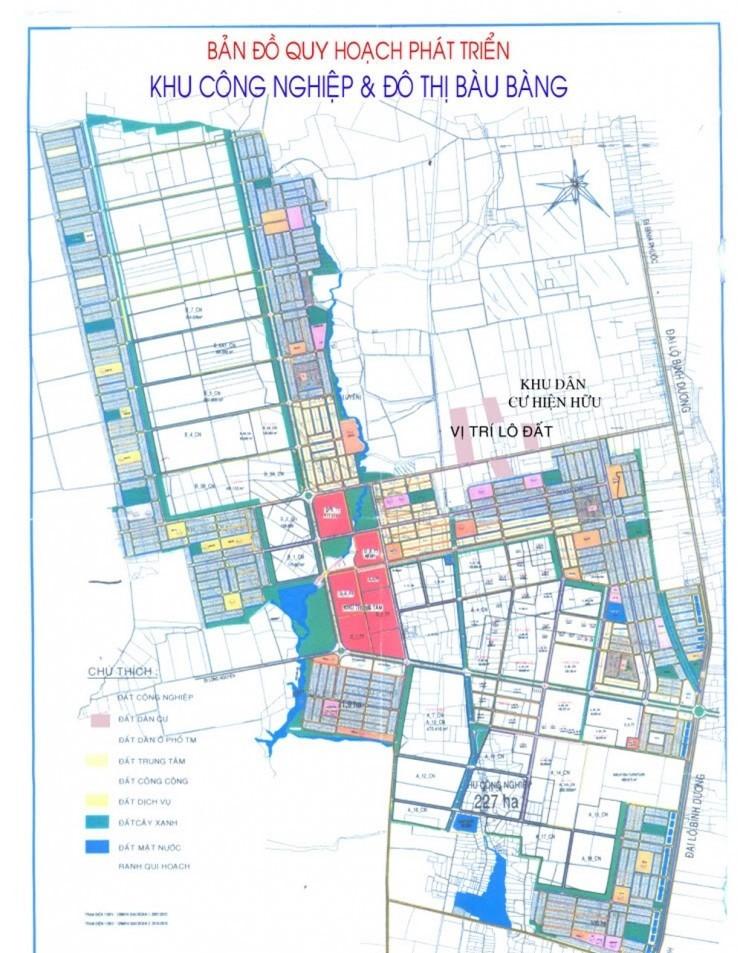 bản đồ quy hoạch huyện bàu bàng bình dương