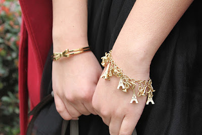 Kate Spade Eiffel Tower Charm Bracelet and Bow Bangle