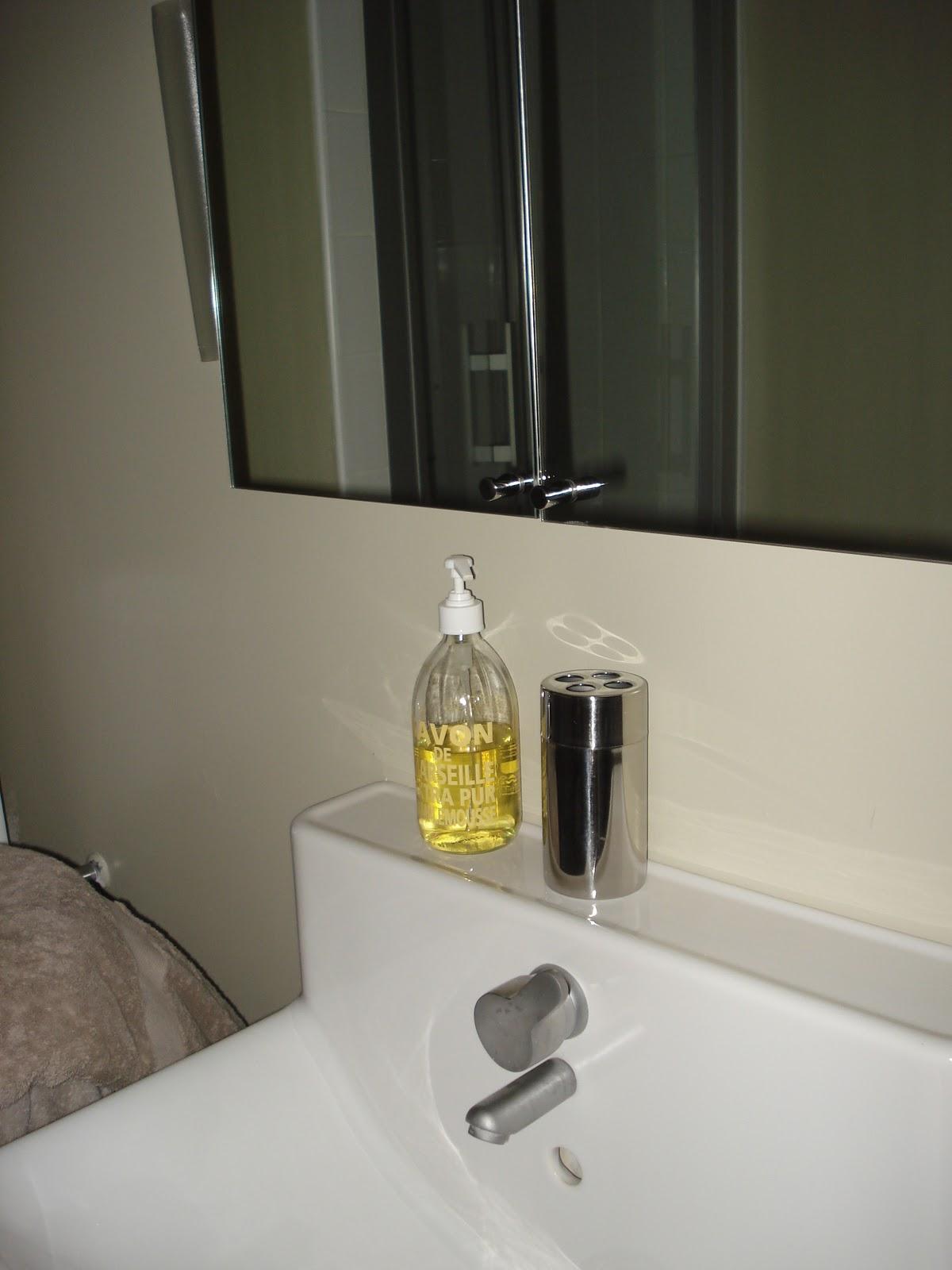Salle De Bain Saumon gris souris: chantier salle de bain