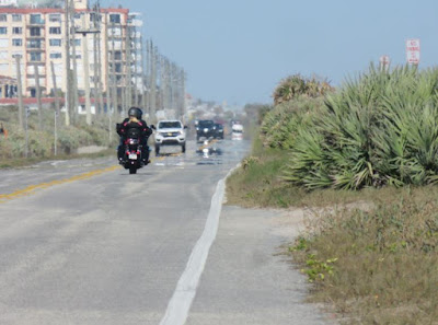 View of motorcycle on State Road A1A