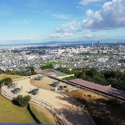 みのお山荘風の杜の口コミ  テラスの先に広がる大阪平野