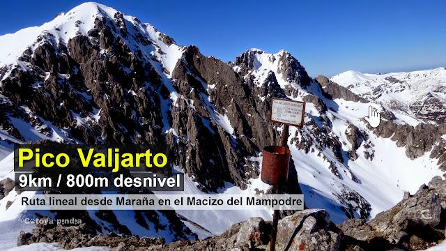 Ruta al Pico Valjarto con nieve