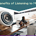 Benefits of Listening to Music #infographic