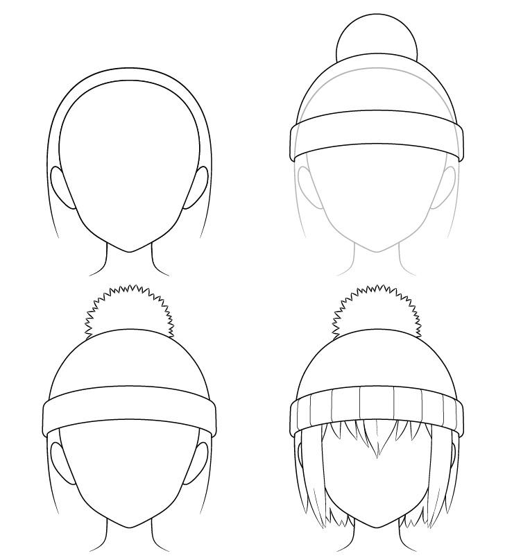 Gambar topi musim dingin anime selangkah demi selangkah