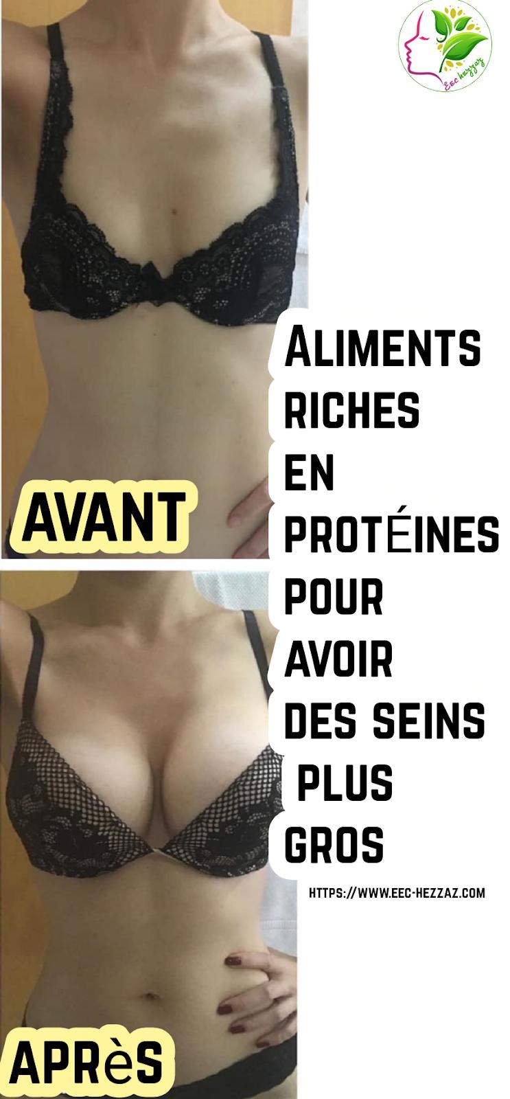 Aliments riches en protéines pour avoir des seins plus gros