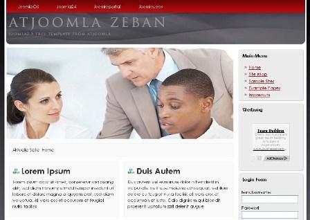 Free At Zeban Joomla 2.5 Template